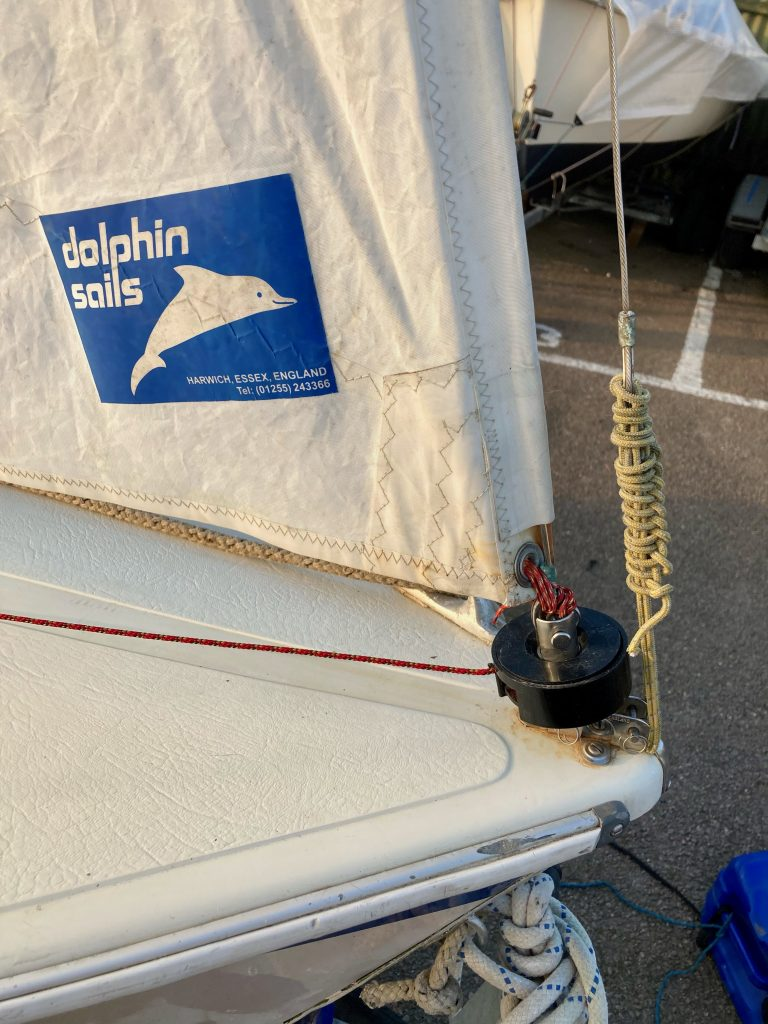 View of furling gear on the bow.