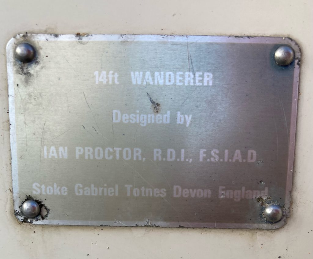 Close up of maker plate