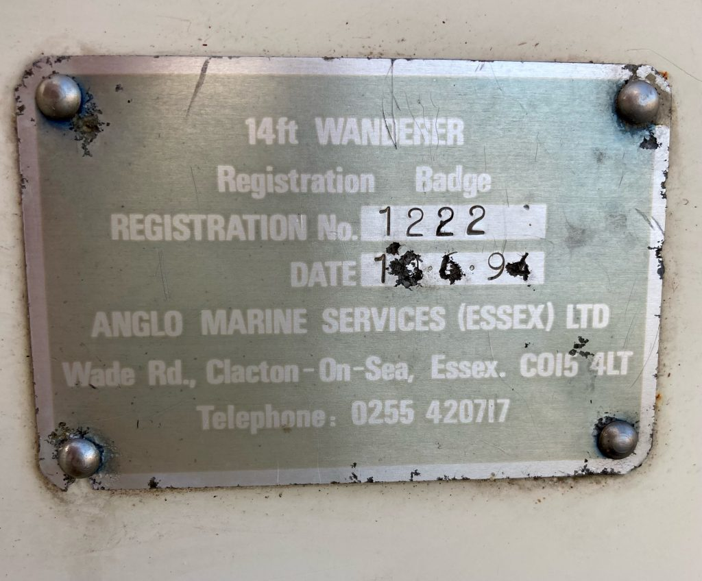 Close up of manufacturing plate