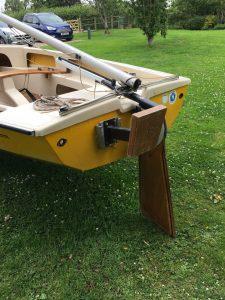 W503 Transom rudder and boom