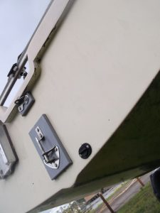 Close up of pintle